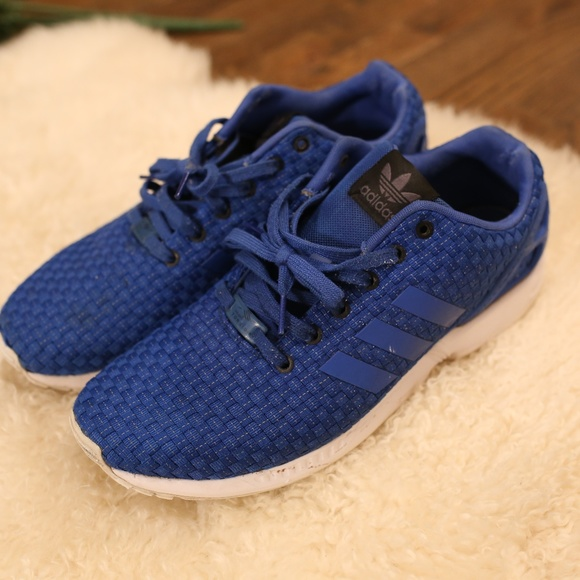save off 47d15 d785e Adidas Torsion ZX Flux Blue Woven 12